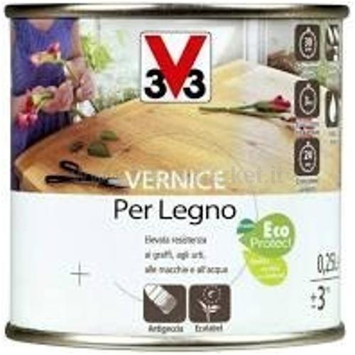 VERNICE PER LEGNO BRILLANTE NOCE SCURO 0.25LT