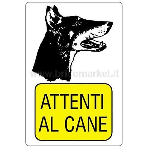 CARTELLO ATTENTI AL CANE 30X20