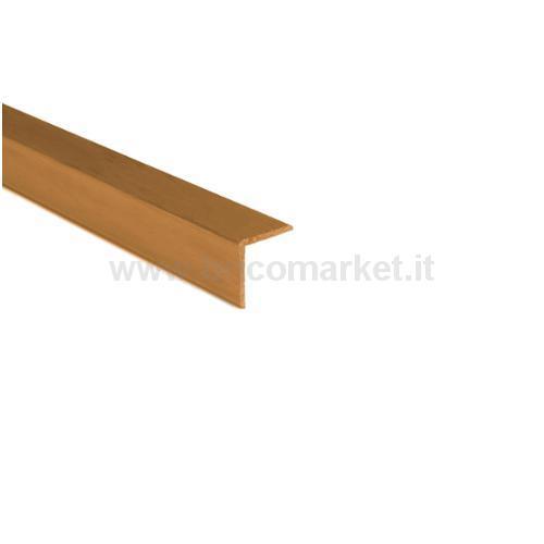 PARASPIGOLO PVC CM. 2.4X2.4X300 NOCE CHIARO