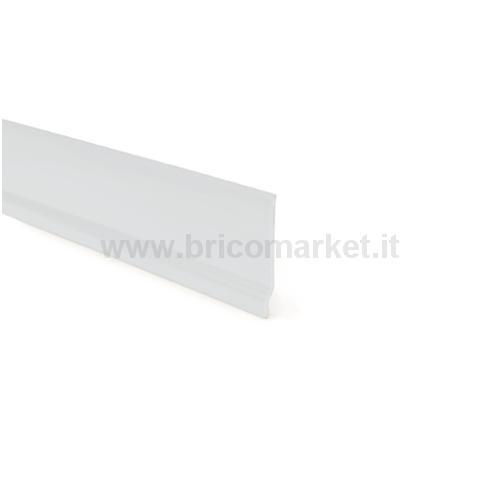 BATTISCOPA PVC CM.7X0,3X200 PIEDE BIANCO