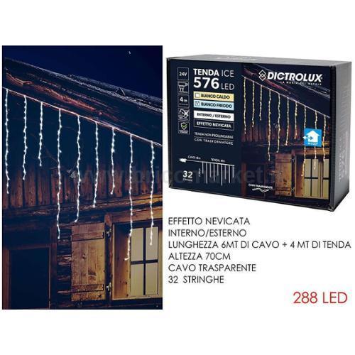 TENDA 576 LED ICE 4XH0.7M BIANCO GHIACCIO