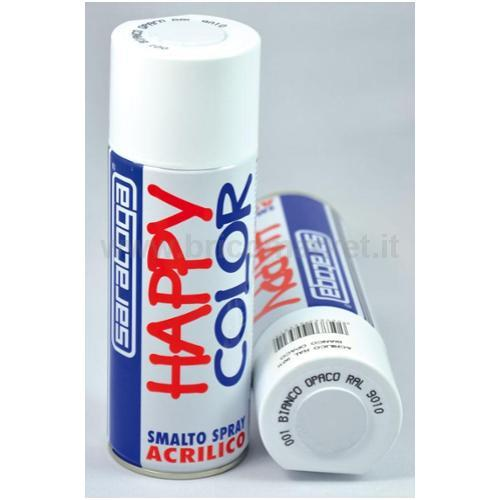 HAPPY COLOR ML.400 BIANCO OPACO RAL.9010