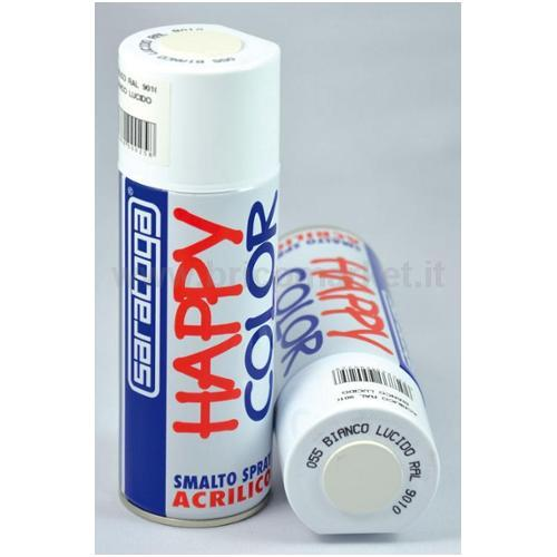 HAPPY COLOR ML.400 BIANCO LUCIDO RAL.9010