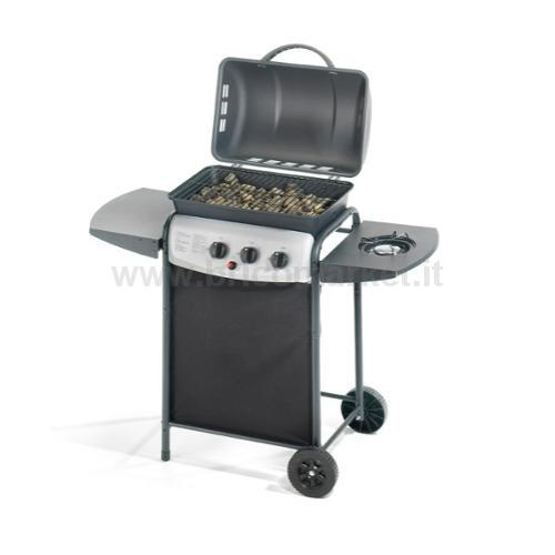 BARBECUE GAS DOUBLE CON FORNELLO CM.46X34
