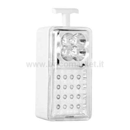 LAMPADA EMERGENZA DAPARETE 20 LED
