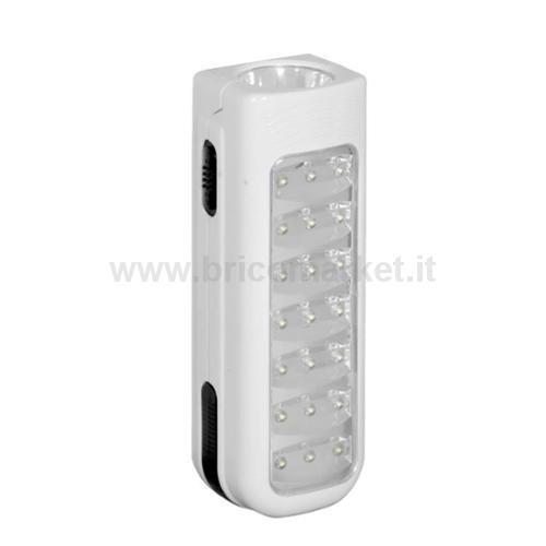 LAMPADA EMERGENZA DAPARETE 21 LED