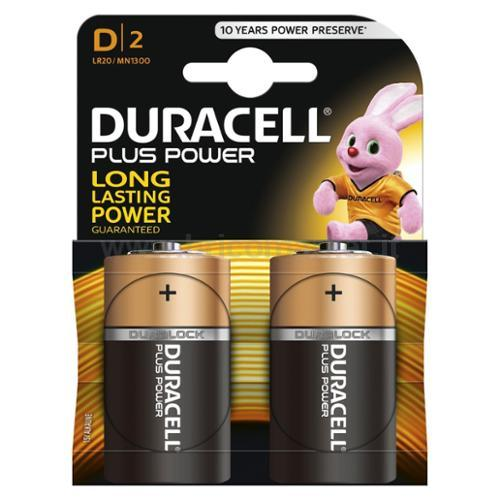 PILA DURACELL PLUS TOWER TORCIA D PZ.2