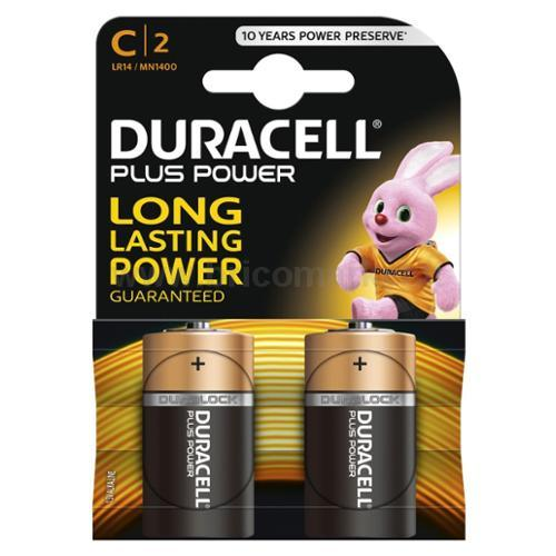 PILA DURACELL PLUS POWER MEZZA TORCIA C PZ.2