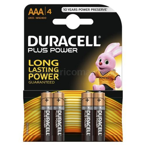 PILA DURACELL PLUS POWER MINISTILO AAA PZ.4