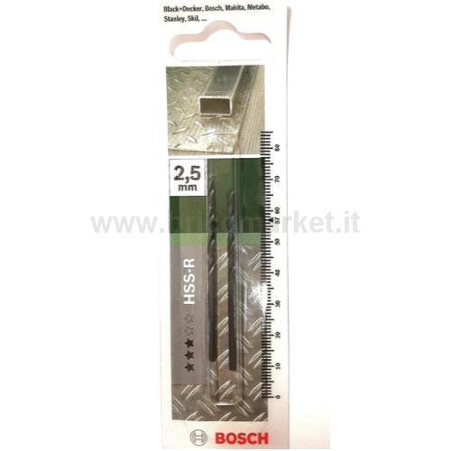 PUNTA METALLO HSS-R 2.5X30X57 118 PZ 2