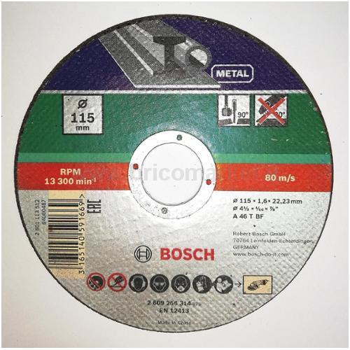 MOLA TAGLIO D. 115 X 22,23 X 1,6 MM, DRITTA, METALLO