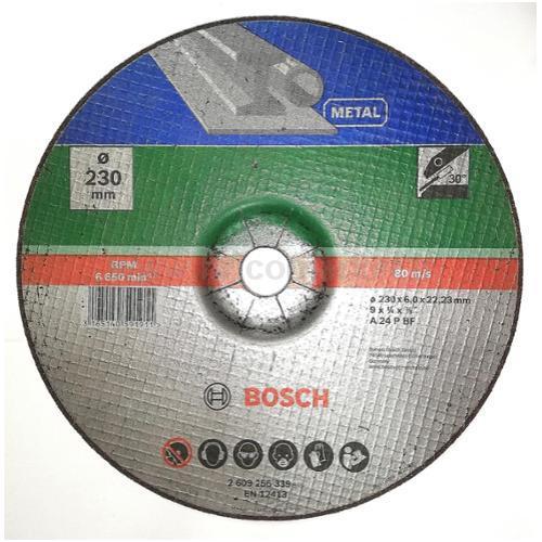 MOLA SBAVO D. 230 X 22,23 X 6,0 MM, C.DEPRESSO, METALLO