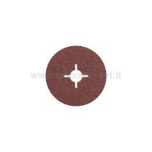 5 FOGLI ABRASIVI IN FIBRA BLUEMETAL D. 115 MM, G36, CON FISSAGGIO A STAFFA, NON FORATI PZ5