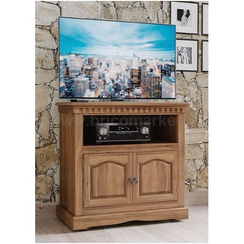 PORTA TV IN PINO MASSELLO 81,5X41XH76CM MARRONE