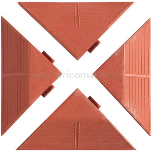 KIT 4 ANGOLARI COLOR COTTO-DIM.1 TRIANGOLO: 200X200X270XH48 MM.
