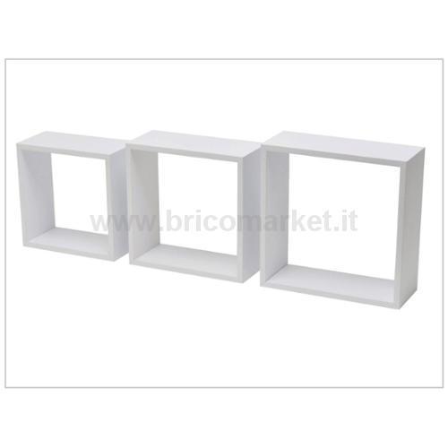 SET 3 CUBI PVC BIANCO 30X27X24CM