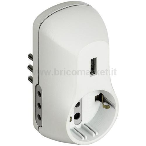ADATTATORE B3 1 PR. ST TED+2 10A+USB BCO