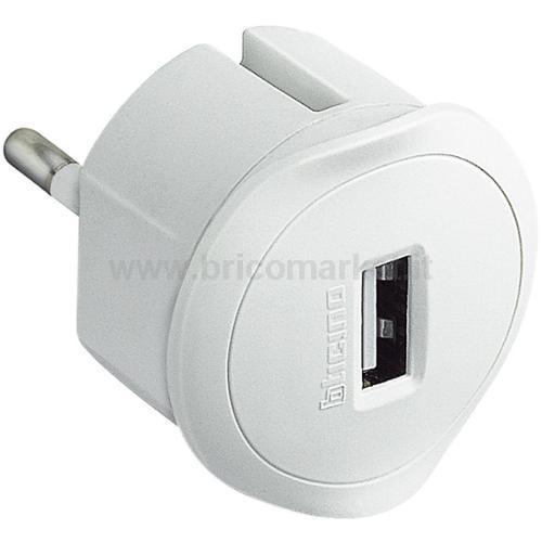 ADATTATORE SP. STD TED PRESA USB 1.5A BIANCO