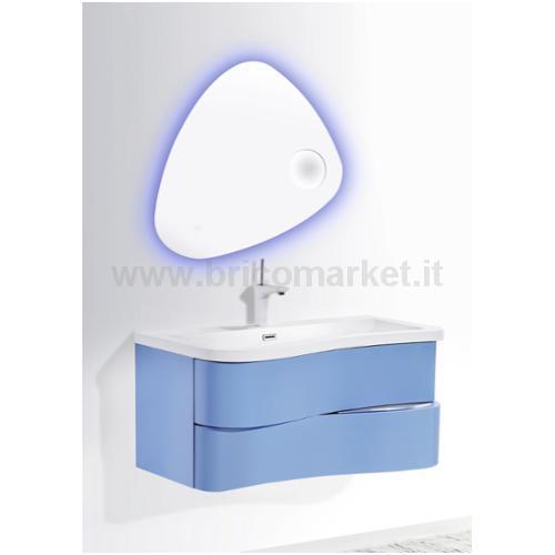 COMPOSIZIONE BAGNO MAZARO 900 CM.91X51 BLUE C/PILETTA POP UO
