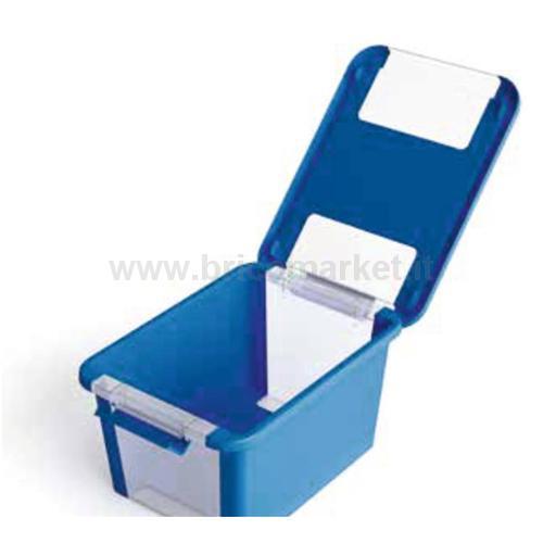BI BOX M 55 X 35 X 19 H AZZURRO/ TRASPARENTE