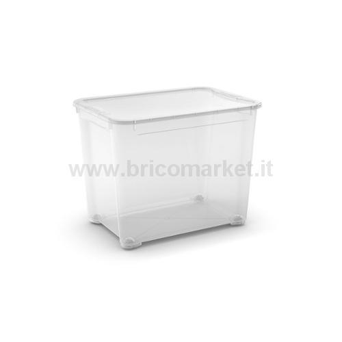 T-BOX XL 55.5 X 39 X 42.5 H TRASPARENTE CON RUOTE