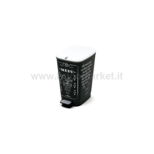 PATTUMIERA CHIC M CON PEDALE LT 35 26,5 X 40,5 X 45 HCOFFE MENU