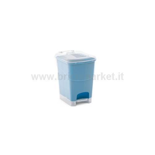 PATTUMIERA A PEDALE KORAL BIN L 25,5 X 34 X 40,5 H TRAS/BLU