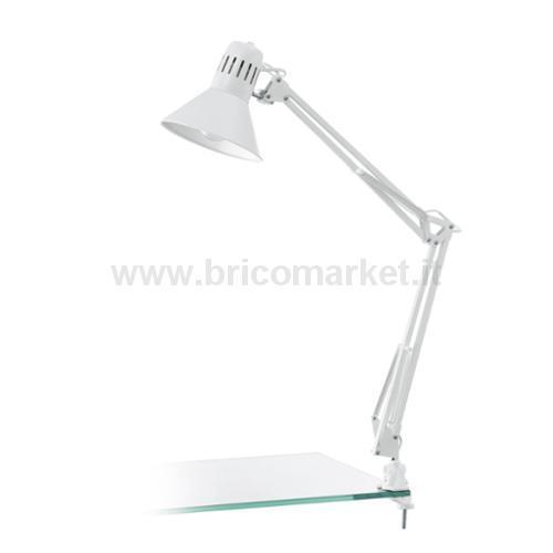 FIRMO - LAMPADA ESTENDIBILE CON MORSETTO 1L X 60W E27 BIANCA