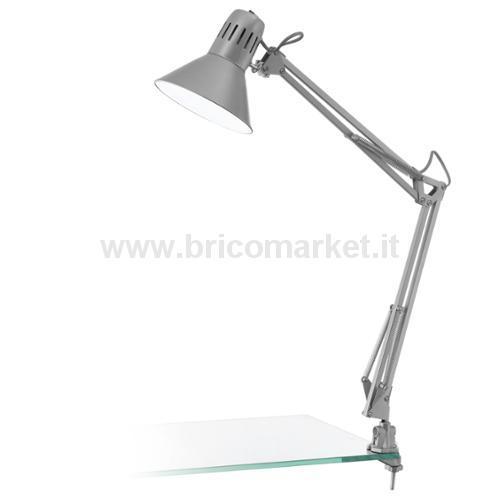 FIRMO - LAMPADA ESTENDIBILE CON MORSETTO 1L X 60W E27 ARGENTO