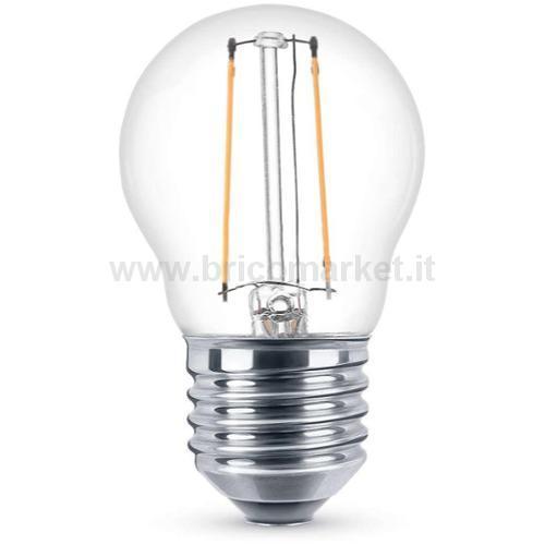 LAMPADA LED A FILAMENTO E27 4W LUCE CALDA
