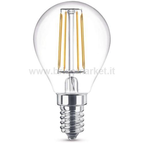 LAMPADA LED A FILAMENTO E14 4W LUCE CALDA