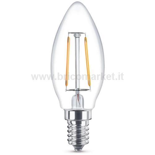LAMPADA LED OLIVA A FILAMENTO E14 4W LUCE CALDA