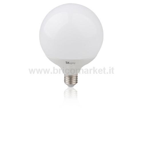 LAMPADA LED GLOBO  20W E27 LUCE FREDDA  6500K