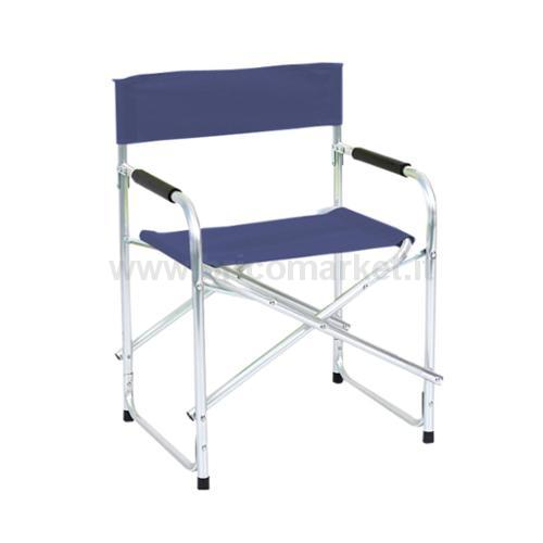 DIRECTOR CHAIR ALUMINIUM POLTESTER DIAM 25 47X55X78H BLUE NAVY