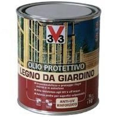 OLIO PROTETTIVO PER LEGNO DA GIARDINO CALPESTABILE INCOLORE LT 2.5