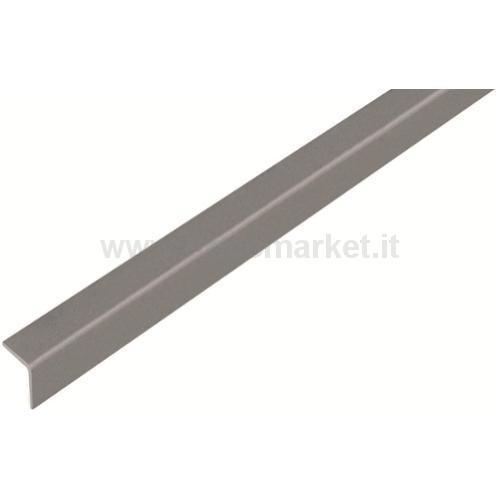 PROFILO ANGOLARE.AUTODESIV.PVC.GRIGIO METALLICO.20X20X1.5/1M