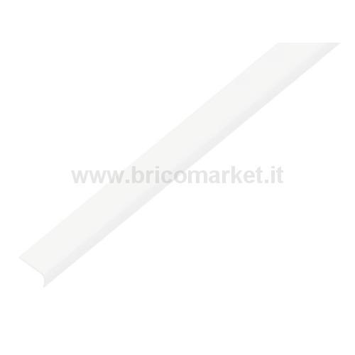 PROFILO TERMINALE.TONDO.AUTODESIV.PVC.BIANCO.19X7X1/1M
