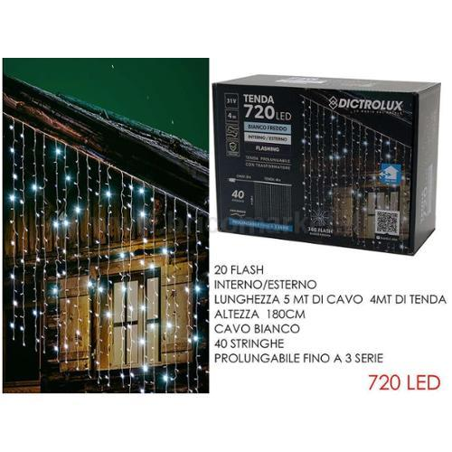 TENDA 4XH1.8M CON 720 LED E 360 FLASH