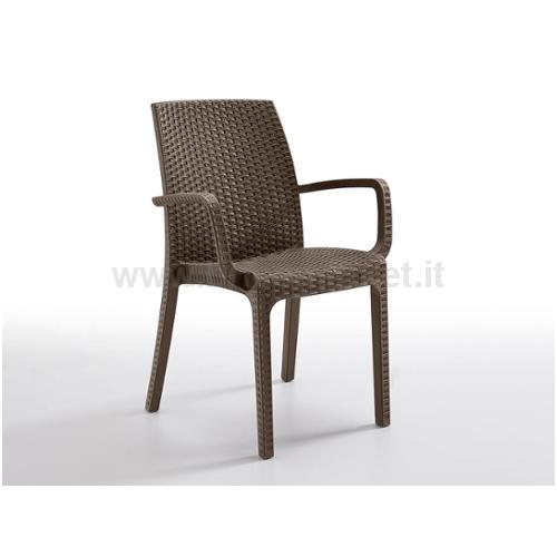 POLTRONCINA INDIANA COLORE TAUPE