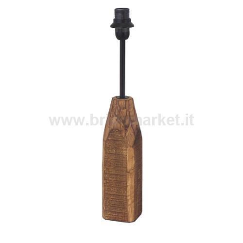 STRUTTURA PER LAMPADA DA TAVOLO 6.5X6.5CM E14 LEGNO. ACCIAIO. CON INTERRUTTORE
