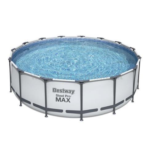 PISCINA STEEL PRO MAX CM. 457X122H, L. 16015 CON POMPA FILTRO, COPERTURA E SCALETTA