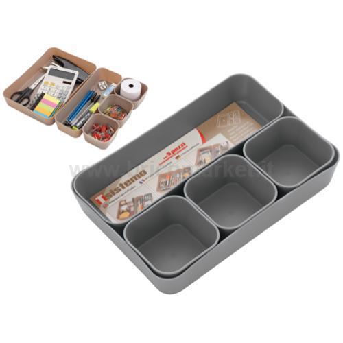 BOX SISTEMAZIONE SET 5 PZ IN PLASTICA