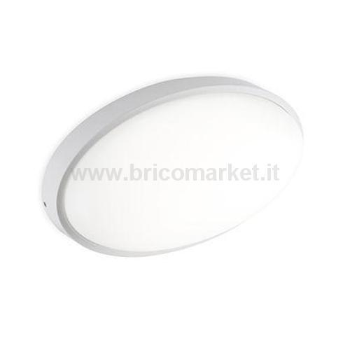 PLAFONIERA OVALE LED 15W (DORIS) BIANCO