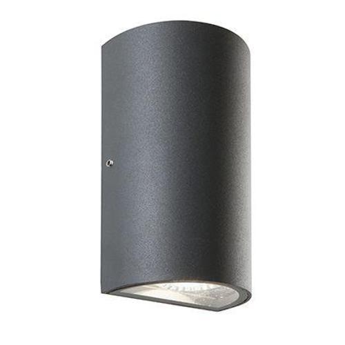 APPLIQUE MEZZOTUBO 2 LED (TRUMP) GRIGIO GRAFITE