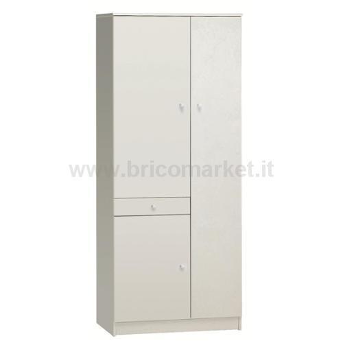MOBILE 3 ANTE 1 CASSETTO BIANCO CM 77X34X183H