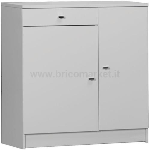 MOBILE 2 ANTE +1 CASSETTO BIANCO LUCIDOCM 77X34X80H
