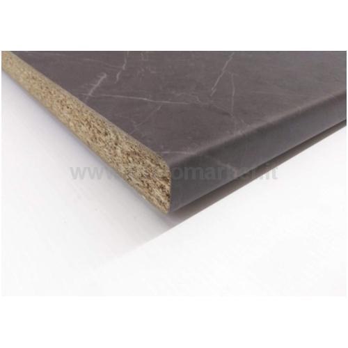 TOP MARMO NERO VENATO 2R4 CM. 2.8X304X60