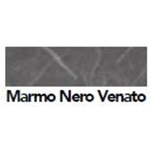 BORDO PRECOLLATO MARMO NERO VENATO MM. 44 X M. 5