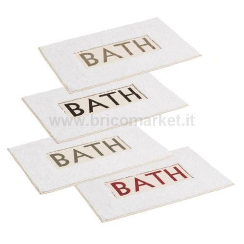 TAPPETO DA BAGNO BATH 100 % COTONE 60 X 40 CM