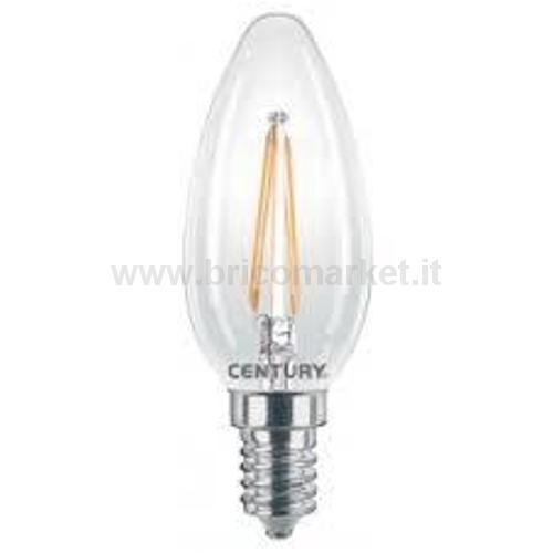 INCANTO CANDELA LED LISCIA 4W E14 2700K 480LM